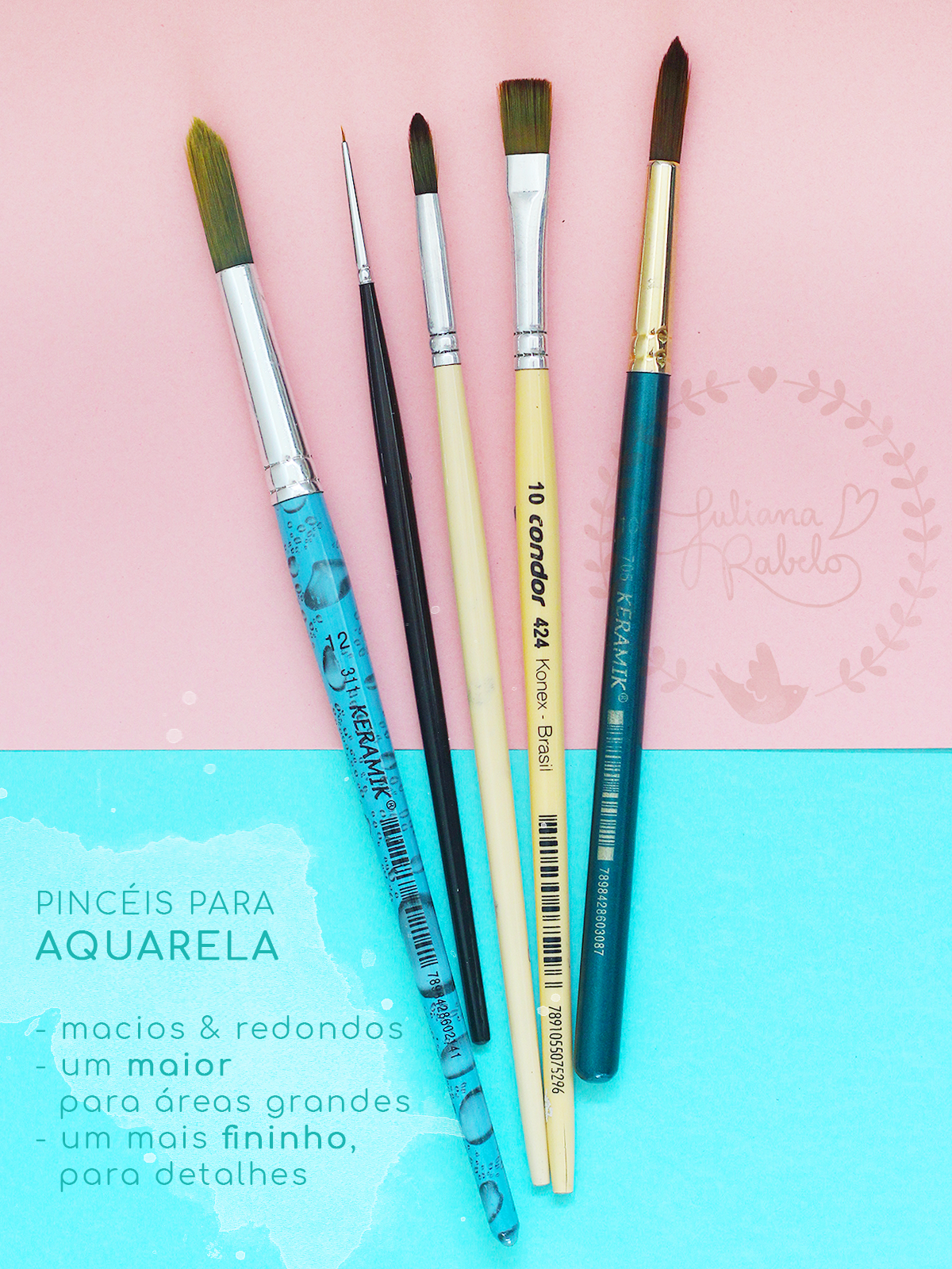 kit de aquarela para iniciantes - Juliana Rabelo