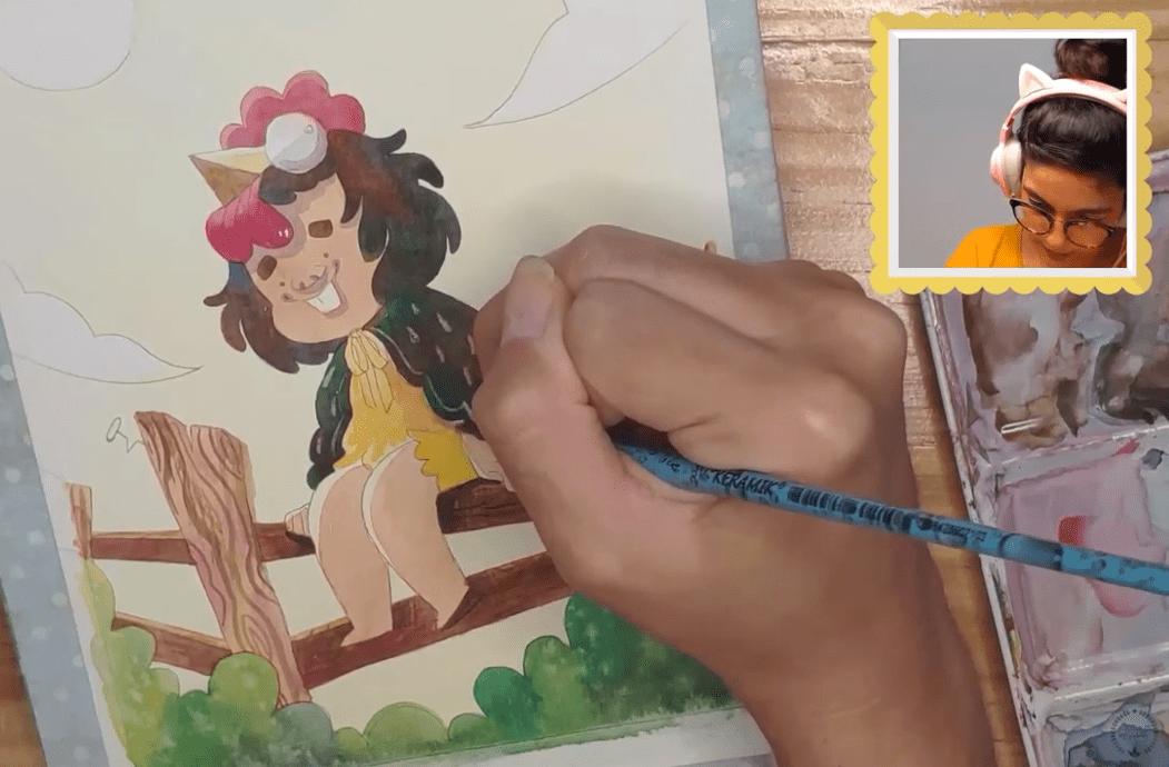 aulas gratuitas de aquarela - Juliana Rabelo